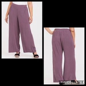 TORRID•guaze wide-leg pants